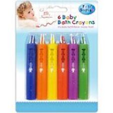 Pack de 6 bébé bain crayons lavables easy clean nouveau jouets éducatifs première étape