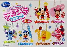 Disney Mickey Minnie Stitch Pooh Donald Cheshire Figure Keychian,6pcs-Re-ment h#