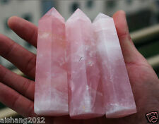 1pcs 80-100MM 100% Natural Rock pink ROSE Quartz Crystal Point Healing