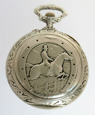 JUMBO antique DOXA Medal D'or Milan 1906 with RIDING MOTIVE ca.100mm swiss WATCH