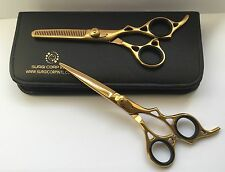 "Professional Hairdressing Scissors Barber Hair Cutting Gold Edition 6.5"" Set"