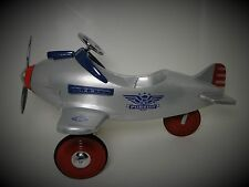 Plane Pedal Car WW2 Vintage Mustang P 51 Red Tail Aircraft Midget Metal Model