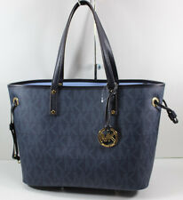 NEW AUTHENTIC MICHAEL KORS BALTIC BLUE JET SET MD REVERSIBLE TOTE WOMENS HANDBAG