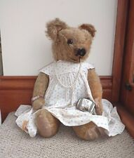 Sweet antique vintage années 1930 merrythought teddy bear early label