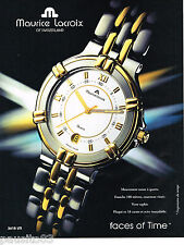 PUBLICITE ADVERTISING 065  1995  LA montre quartz  de MAURICE LACROIX