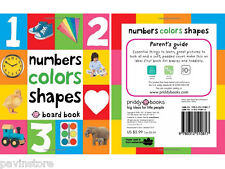 First 100 Numbers Colors Shapes Board Book Baby Toddler Read Speak Education