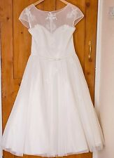 LouLou 50's Vintage Style Ivory Wedding Dress Lisette LB102 Size 12 - 14