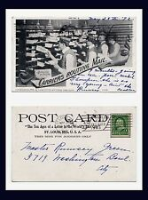 MISSOURI ST LOUIS POST OFFICE ROUTING MAIL POSTED 1902 TEN AGES OF A LETTER