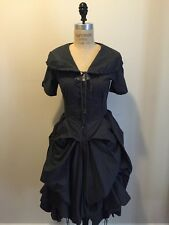 All Saints Gray Parachute Dress Steam Punk Style Pin Tucks Sz 8