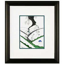 LARISSA HOLT SIGNED ORIGINAL PEN & INK DRAWING FRAMED EYVIND EARLE STYLE COA