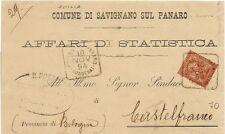 P7161   Modena, Savignano sul Panaro, annullo quadrato 1894