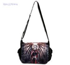"""Anne Stokes Messenger Bag: """"Avenger"""" Gothic Steampunk Angel"""