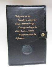 Alcoholics Anonymous AA Big Book and 12&12 Double Cover Serenity Prayer BLACK