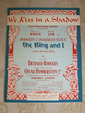 Vintage Original Sheet Music Of We Kiss In A Shadow, By Richard Rodgers - 1951