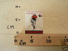 STICKER,DECAL TOUR DE FRANCE 19 JUILLET 1984 CRANS-MONTANA CYCLING NOT 100 % OK