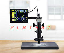 """Digital Industrial Inspection Zoom Video Microscope 10-155X USB&VGA output+8""""LCD"""