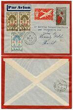 Madagascar WW2 airmail papeterie france libre surtaxes premier vol 1945 vfu
