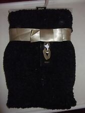 MIXIT - WOMEN - SCARF & HAT SET - BLACK w/SEQUINS - ONE SIZE    (AC-20-189x5)