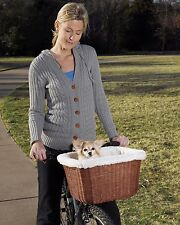 Solvit Tagalong Wicker Pet Dog Cat Bicycle Basket for pets up to 13# Model 62331