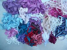 Stretch LACE and ELASTIC Lot Approx. 100 yds. 1 lb. Blue Pink White Purple Beige