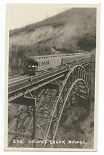 1920s RPPC Postcard of Canadian Pacific Railway Train on Stoney Creek Bridge