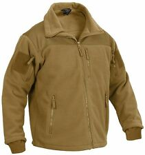 Special Ops Tactical Fleece Jacket - Rothco Mens Black or Brown Spec Ops Coat