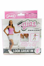 Body by Jake Gym In A Shoe Kit Clips Handle Resistance Band Exercise Workout DVD