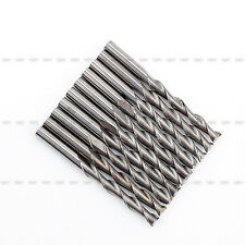 10Pcs 3.175mm 22mm Double/Two Flute CNC solid Carbide Spiral End Mill Router Bit
