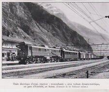 1935  --  SUISSE  TRAIN ELECTRIQUE D ESSAI EN GARE D ERTSFELD   3B353