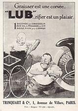 PUBLICITE  ACCESSOIRES AUTO LUB GRAISSEUR LANDAU BEBE   AD  1925   2E