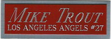 MIKE TROUT ANGELS NAMEPLATE FOR AUTOGRAPHED Signed Baseball Display CUBE CASE