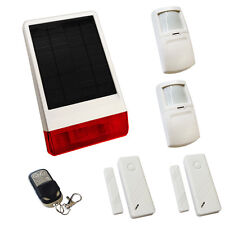 WIRELESS SOLAR HOUSE BURGLAR INTRUDER ALARM PIR MOTORHOME CARAVAN WIFI NOT GSM