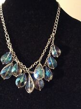 $45 Kenneth Cole Solver PTone Double Row  Blue Stone Necklace # K 30(3)