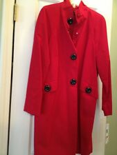 AK ANNE KLEIN TRENCH COAT BRIGHT RED HUGE BUTTONS NWT  PS, S, 2 , 4