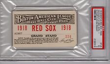 1918 Boston Red Sox Babe Ruth PSA Ticket Pass W 13/2 Hits/Clinches Pennant Ex