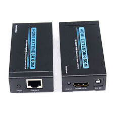 1080P HDMI Extender 60mOver Single Cat5e/6  Ethernet Cable Transmitter&Receiver
