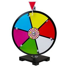 "12"" Multicolor Dry Erase Prize Wheel w/ Steel Pegs for Carnival Game Promo Event"