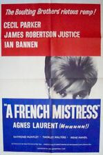 A FRENCH MISTRESS one sheet movie poster A 27x41 AGNES LAURENT 1961