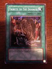 Yugioh Tribute to the Doomed MRD-057 Super Rare Nice Condition Spell Card
