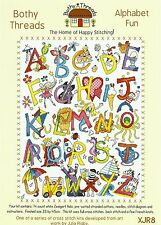 BOTHY THREADS ALPHABET FUN COUNTED CROSS STITCH KIT A to Z PICTURES - NEW