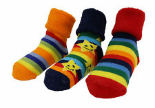Baby Boy Girl Winter Thick Rainbow Stars Anti-slip Socks 3-pack Age 6-24 M