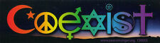 Coexist Twilight Interfaith - Magnetic Small Bumper Sticker / Decal Magnet