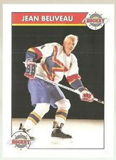 "Late 1990's Montreal Canadiens  ""Jean Beliveau #4""  NHL Hockey Postcard"