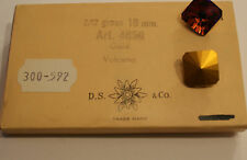 SWAROVSKI ® - 1 Pz  Cabochon Quadrato #4650 -18 mm Volcano Vintage Gold Foiled