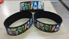 10pcs Cartoon Avengers hero Wristband Silicone Bracelets kids Gifts Bangle A-05