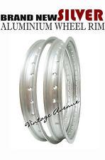 HONDA SL125 XL125 XL175 XL185S ALUMINIUM (SILVER) FRONT + REAR WHEEL RIM