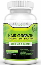 Hair Growth Vitamin | Biotin | DHT Blocker for Hair Loss & Baldness | 120 Pills