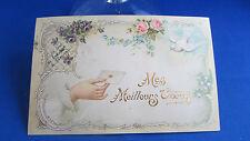 cpa fantaisie illustrateur message colombe fleurs
