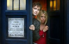 "Dr Doctor Who Imported 17"" X 11"" 10th Doctor and Rose TARDIS Poster Print"
