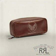 $295 RRL Ralph Lauren WWII inspired A-2 Italian Leather Travel Bag Wallet